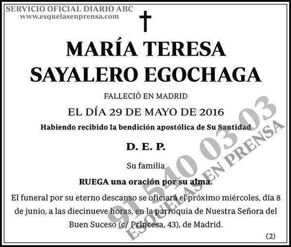 María Teresa Sayalero Egochaga